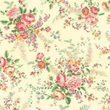 Cottage Shabby Chic Cotton Fabric Mary Rose Sweet Charms MR2150-13A Cream BTY