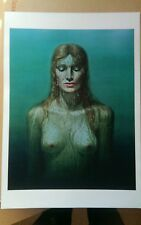 Tretchikoff  'birth of Venus' A3 print on heavy canvas paper  green lady