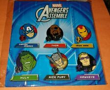 Disney Pins Marvel Avengers Assemble Booster 6 Pins - New / Sealed Free Shipping