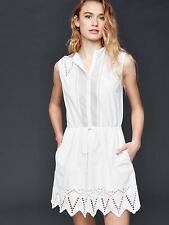 NWT GAP Eyelet and mesh shirtdress, Optic White SIZE L     #178007