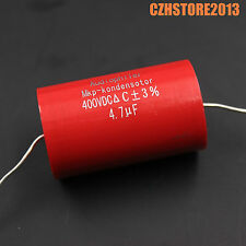 4.7uf 400VDC red MKP capacitor for amplifier circuit speaker crossover x10
