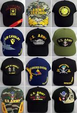 US Army Military Baseball Caps 6 Pc Assorted Styles  Embroidered  ( E7506A-6)