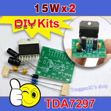 TDA7297 15W +15 W Amplifier Board DC 12V Pure Post-stage 2.0 dos-channel DIY Kit