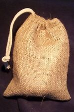 """D!E POWDER"" LARGE NATURAL JUTE DISPENSING BAG, FOR USE WITH DIATOMACEOUS EARTH"
