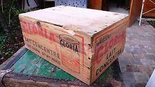 Objet Métier Vintage caisse Usine transport bois Atelier Lait Concentré Gloria