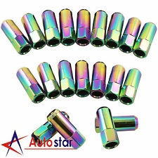 Neo Chrome 20PCS M14X1.5 60MM Extended Forged Aluminum Wheel Tuner Lug Nuts
