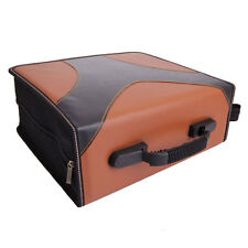 400 Disc Leaf Large Capacity PVC CD DVD Wallet Storage Album Bag Brown & Black
