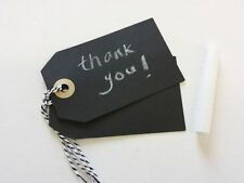 Chalkboard Style Card Gift Tag  - DIY - Black White Wedding Party - 10 Tags