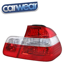 BMW E46 3-SERIES SEDAN 98-01 CLEAR RED UPDATE STYLE TAIL LIGHTS / REVERSE LIGHTS