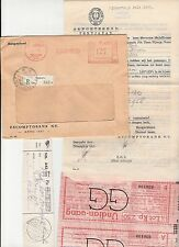 Netherlands Indies Indonesia Meter Stamp Cover 1953 Registered Escompto +extra!!