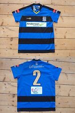 "KINGSTONIAN FC football shirt ""2"" MATCH WORN soccer jersey Kingston Surrey"
