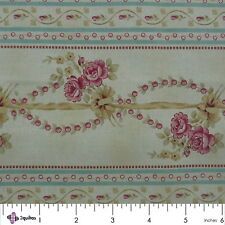 Fabric Fat Quarter – ROSE HILL LANE – Robyn Pandolph – RJR – Border Stripe - FQ