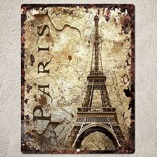 PP0084 Vintage PARIS Sign Rustic Parking Plate Home Restaurant Cafe Gift Decor