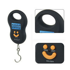Portable Mini 50kg/5g LCD Digital Fish Hanging Luggage Weight Hook Scale Useful