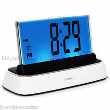 Moshi Voice Controlled Talking Loud Alarm Clock, Low Vision, Blind User
