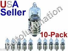 10pc E10 Screw Base T10 Bulb Lamp Flashlight 12V 10W Krypton Halogen 28mm
