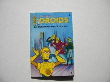 Star Wars Droids Spain Cartoon Vlix, the Fromm's & Boba Fett Pop Up Book#4 1987