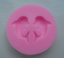 TWIN DOLPHIN SHAPE 3D SILICONE MOULD FONDANT FOR CAKES SOAP CANDLES DECORATION
