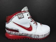 Nike Lebron VI 6 Size 8 BB Shoes White Black Red Silver Ohio State 346526 161