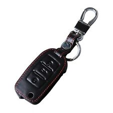 For Volkswagen Black Car Leather Key Case Remote Key Bag Key Holder Cover