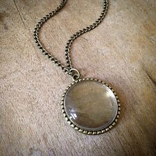 DIY Bubble Magnifying Glass Picture Locket Necklace Vintage Style Antique Bronze