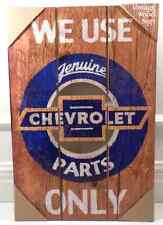We Only Use Genuine Chevrolet Parts Automobile Car Advertising Wood Sign