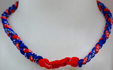"NEW! 20"" Custom Clasp Braided Sports Royal Blue Red Tornado Necklace Twisted"