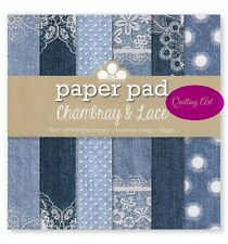 """Chambray & Lace Scrapbooking Paper Pad 8""""x8"""" 36 sheets 190gsm"""