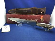 "Muela 16"" Stag Fixed Blade ""Ursus"" Knife Mint In Box & Leather Sheath 25S"