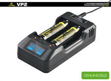 XTAR VP2 PREMIUM CHARGER WITH LCD SCREEN FOR LI-ION IMR and FePO4 BATTERIES