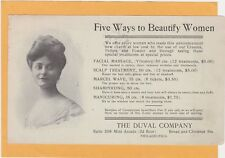 Advertising Postcard - Duval Co - Facial Massage  Marcel Wave Shampoo Manicure