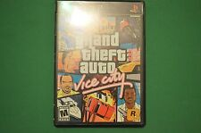 Grand Theft Auto: Vice City Sony PlayStation 2 2002 PS2 Complete w/ Poster Used!