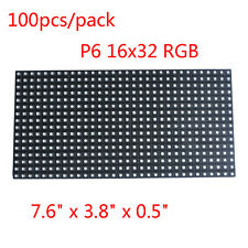 100pcs/lot High-definition LED Display LED Matrix Panel P6 16x32 RGB SMD3