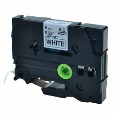 1PK TZ 211 TZe-211 Black on White Label Tape For Brother P-Touch PT-7100 1/4""