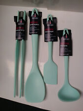 SET OF KITCHEN CRAFT 26.5cm COLOURWORKS TONGS & 20cm MINI LADLE TURQUOISE
