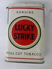 RARE VINTAGE ADVERTISING LUCKY STRIKE WHITE  TOBACCO VERTICAL  POCKET  TIN 95-L