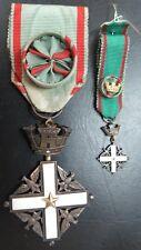 ITALY ORDER OF MERIT ITALIAN REPUBLIC COMMANDER GRADE SILVER MEDAL + MINIATURE
