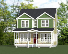24x24 House -- 2 Bedroom -- 2.5 Bath  1,106 sq ft -- PDF Floor Plan -- Model 5