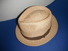 TOMMY BAHAMA natural straw FEDORA Hat  large/xl