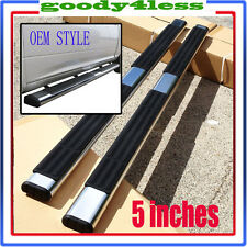 "99-13 EXT Silverado Sierra 5"" Nerf Bars Side Steps Running Boards OE Style"