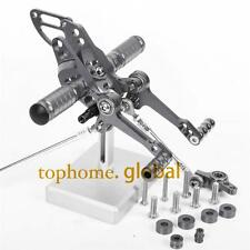 CNC adjusting Rearset Footpegs Rear set For Ducati Streetfighter 848 Grey