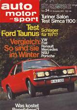 auto motor sport ams 24/70 Ford Taunus 1600 XL / Simca 1100 S Special/21.11.1970