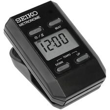 NEW SEIKO DM51B BLACK CLIP-ON DIGITAL METRONOME DM51 TO KEEP TEMPO +SHIPS FREE