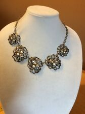 Ann Taylor Large  Crystal Flower Necklace $49.99 (19584874) MD 5