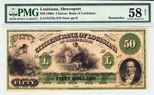 1800's $50 The Citizens' Bank of Louisiana Pmg 58 Net Choice About Unc.