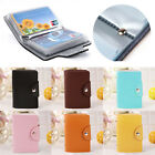 24 Cards Pu Leather Credit ID Business Card Holder Pocket Wallet Case NW