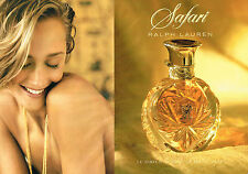 PUBLICITE ADVERTISING 035  1994  RALPH LAUREN  parfum SAFARI  ( 2 pages)