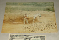 "Vintage Mid-Century 9.5"" X 7.5"" Photo Picture Mexican Man Pans For Gold w/ Horse"