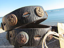 RRL belt 40 Ralph Lauren NWT ITALY nautical navy anchor naval distressed patina