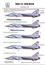 Hungarian Aero Decals 1/48 MIKOYAN MiG-31 BM/BSM FOXHOUND Russian Fighter